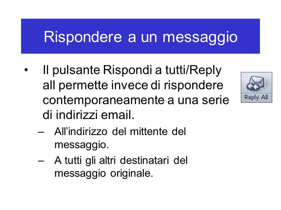 Rispondere a un messaggio