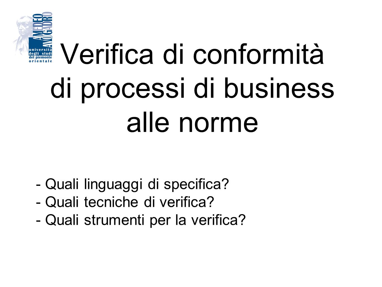 Verifica di conformità di processi di business alle norme
