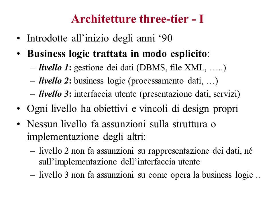 Architetture three-tier - I
