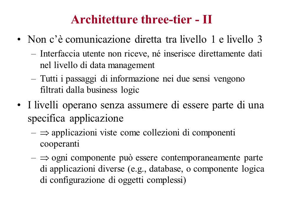 Architetture three-tier - II