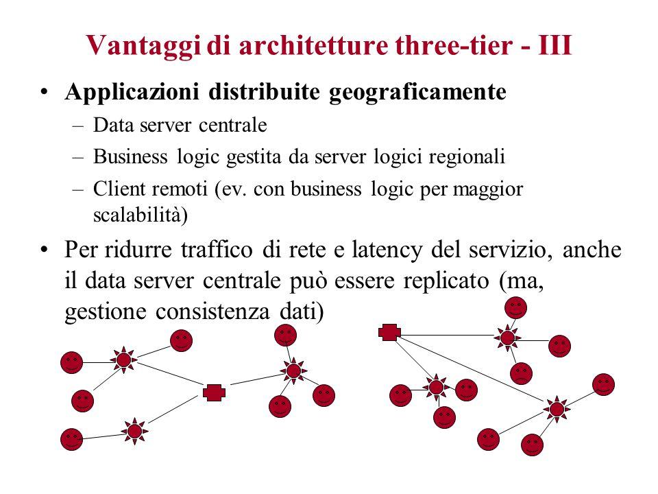 Vantaggi di architetture three-tier - III