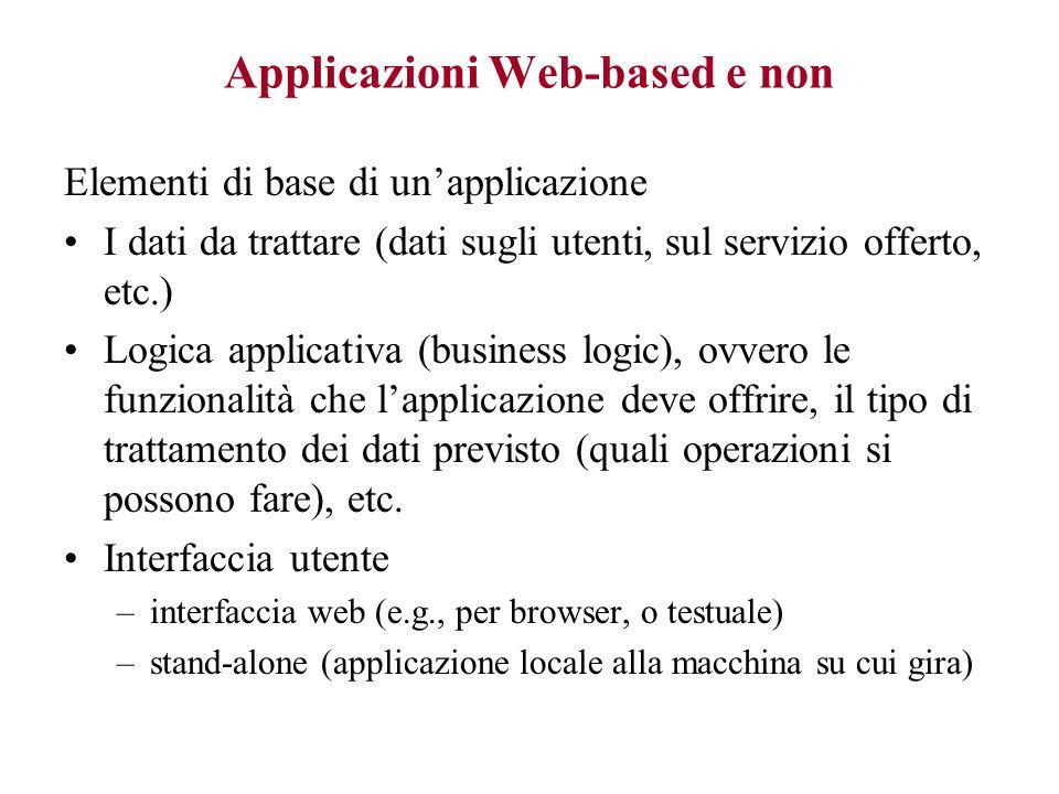 Applicazioni Web-based e non