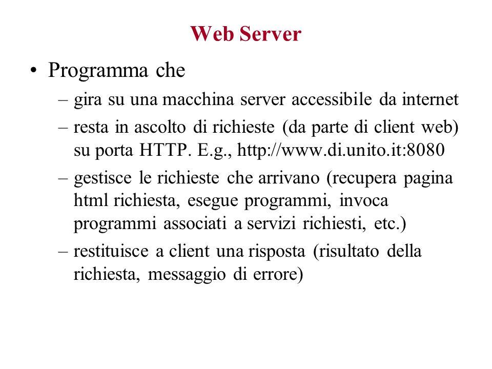 Web Server Programma che