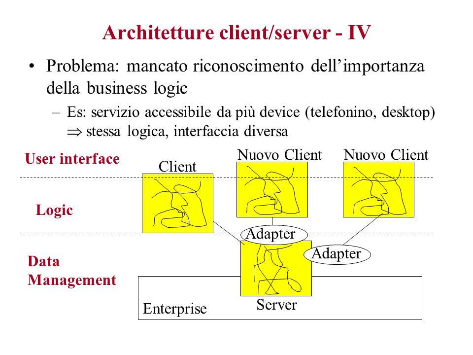 Architetture client/server - IV