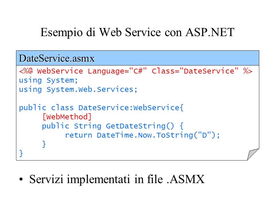 Esempio di Web Service con ASP.NET