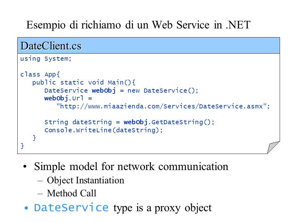 Esempio di richiamo di un Web Service in .NET