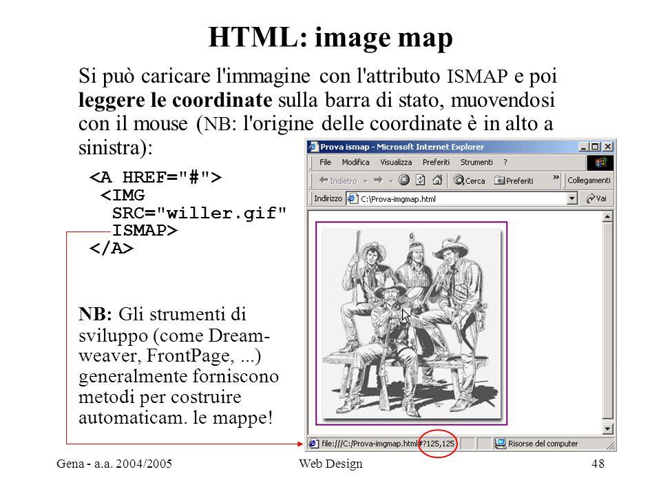 HTML: image map