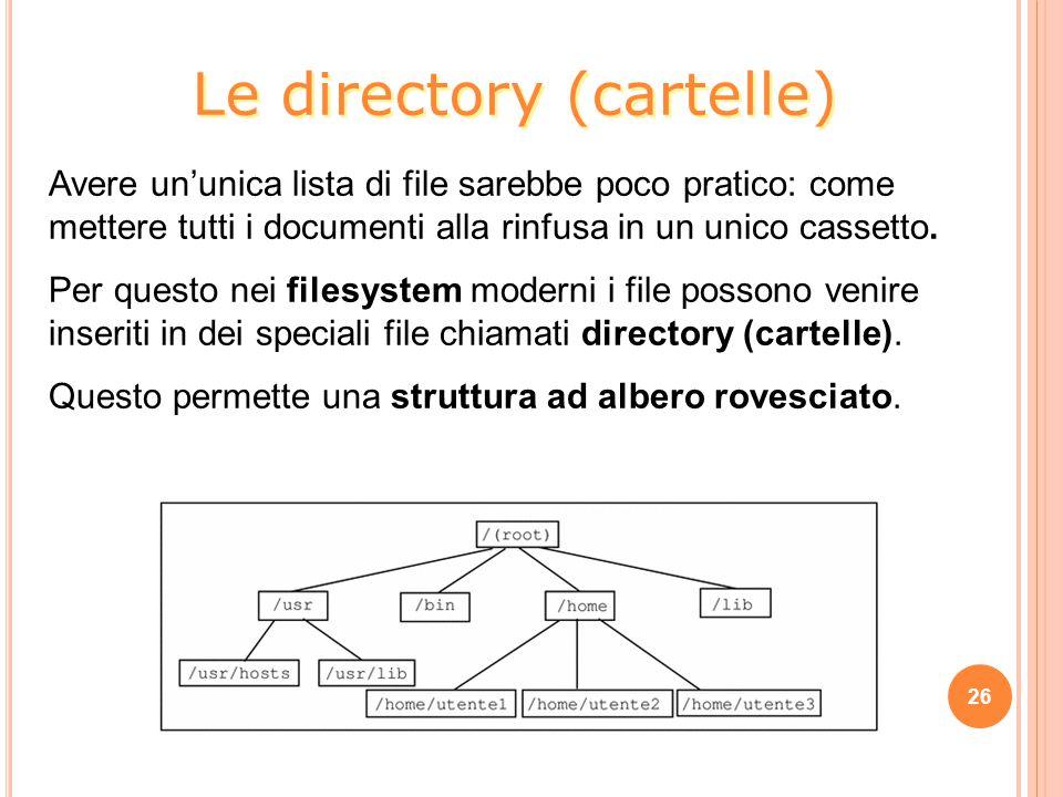 Le directory (cartelle)