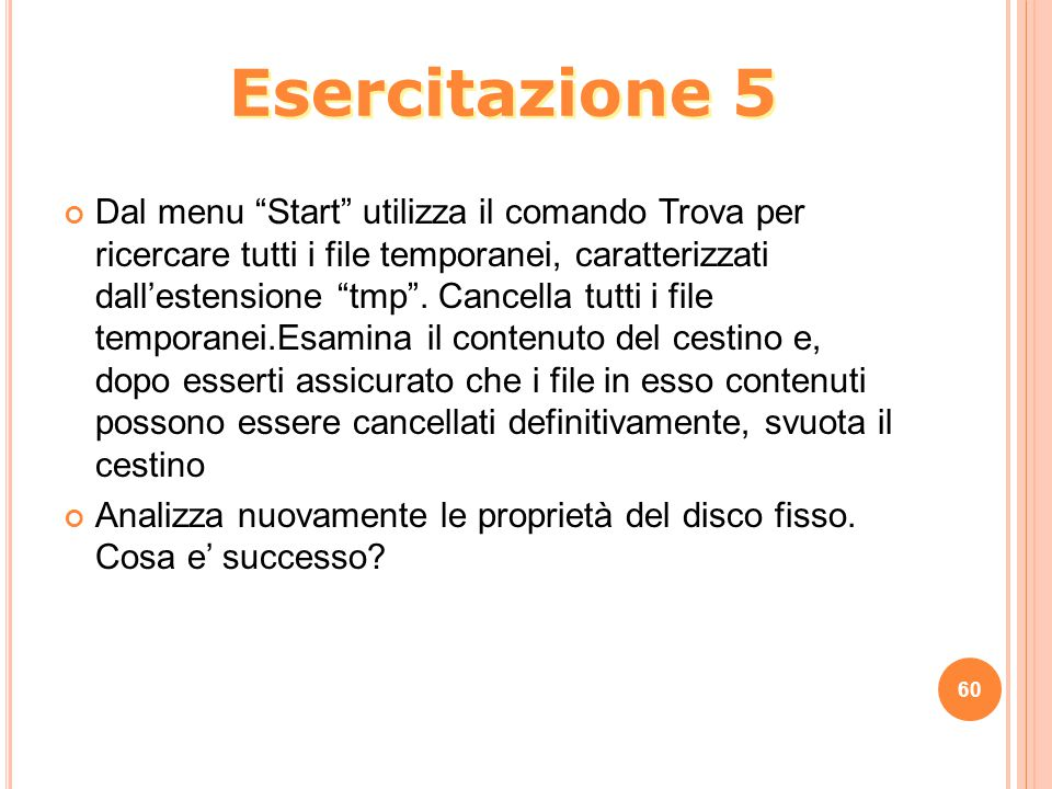 Esercitazione 5