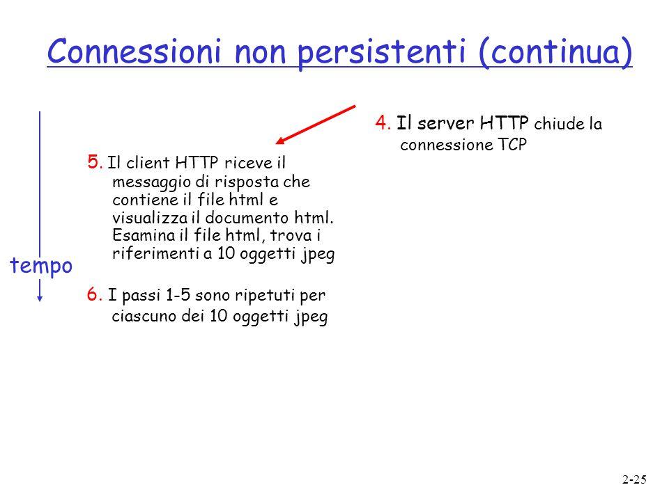 Connessioni non persistenti (continua)