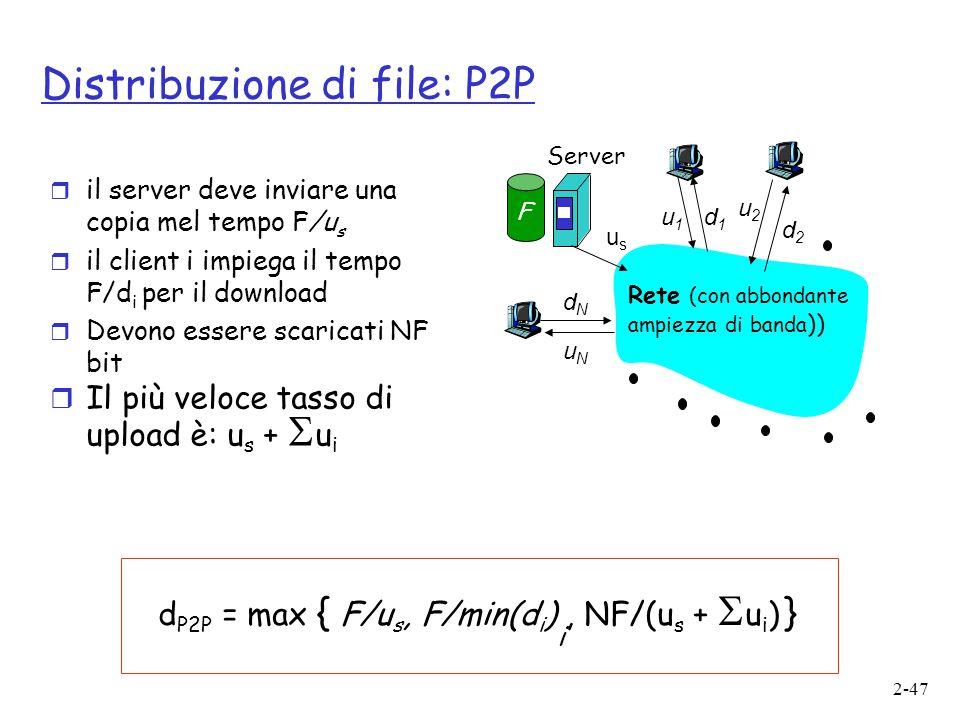 Distribuzione di file: P2P