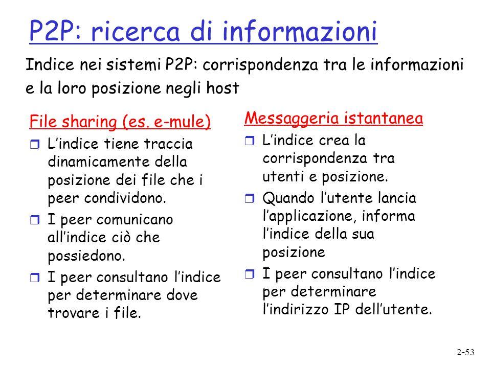 P2P: ricerca di informazioni