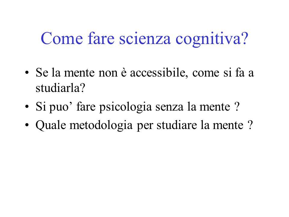 Come fare scienza cognitiva