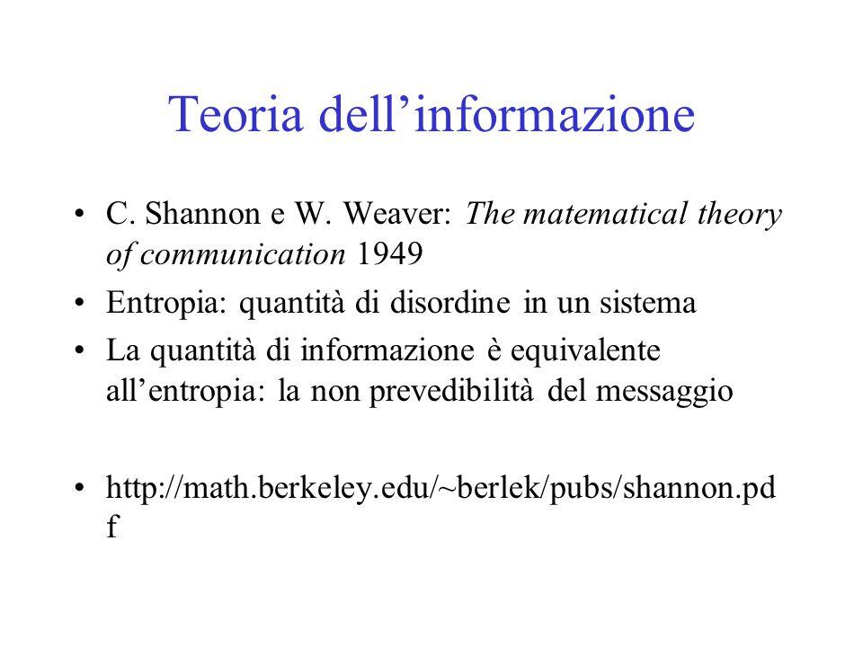 Teoria dell'informazione