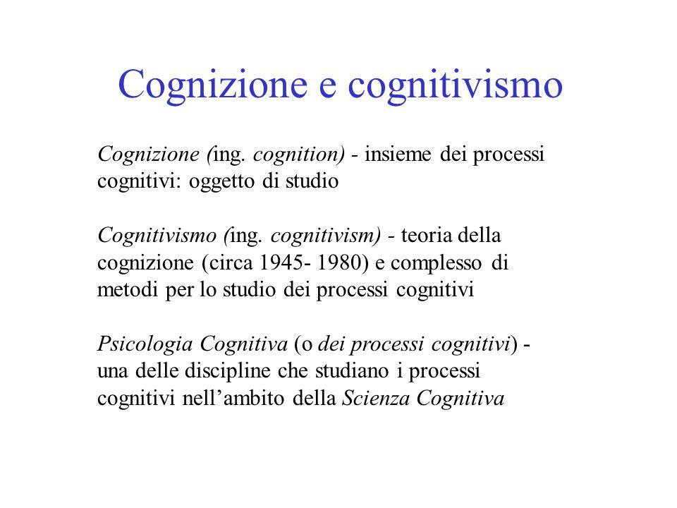 Cognizione e cognitivismo