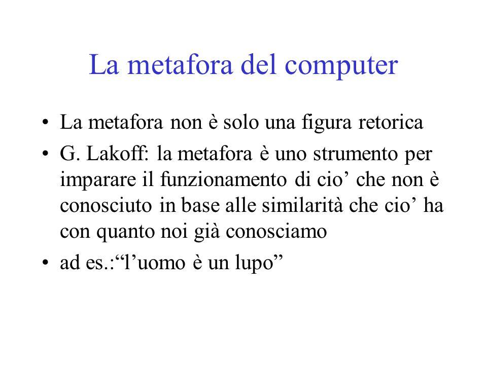 La metafora del computer