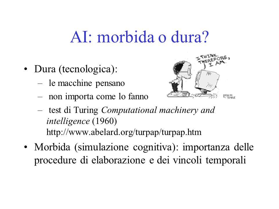 AI: morbida o dura Dura (tecnologica):