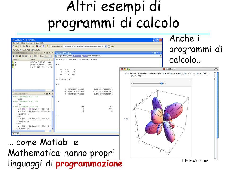 Altri esempi di programmi di calcolo