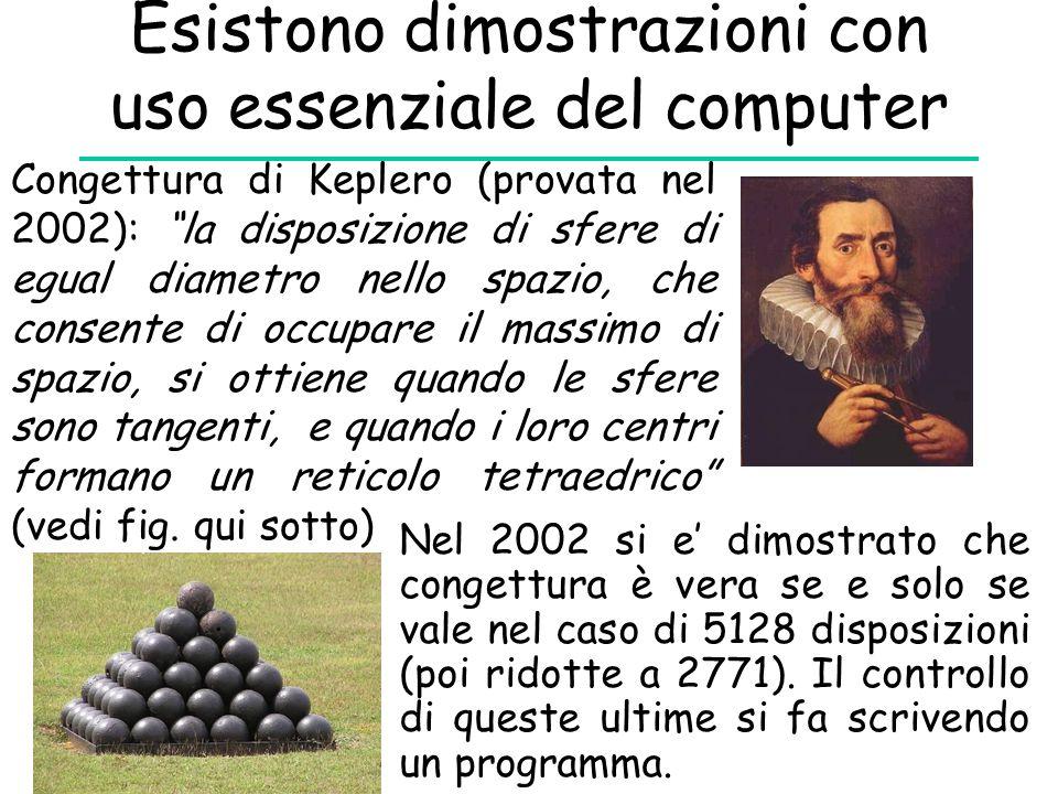 Esistono dimostrazioni con uso essenziale del computer