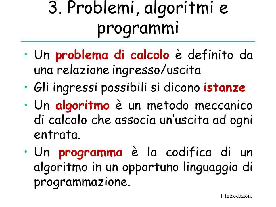 3. Problemi, algoritmi e programmi