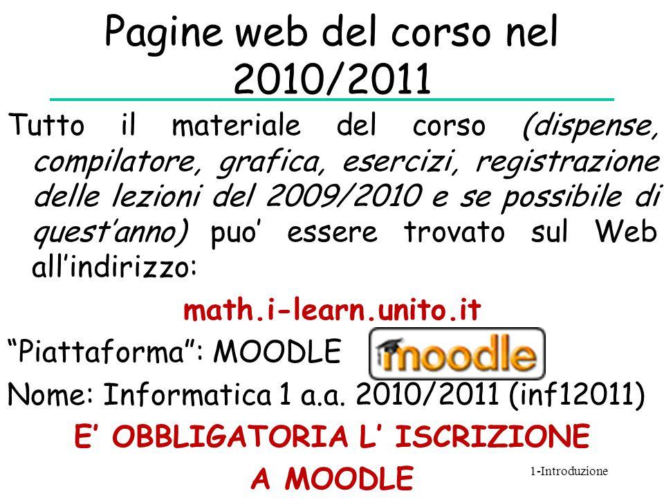 Pagine web del corso nel 2010/2011