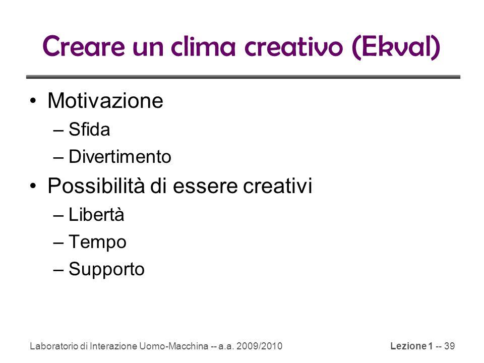 Creare un clima creativo (Ekval)