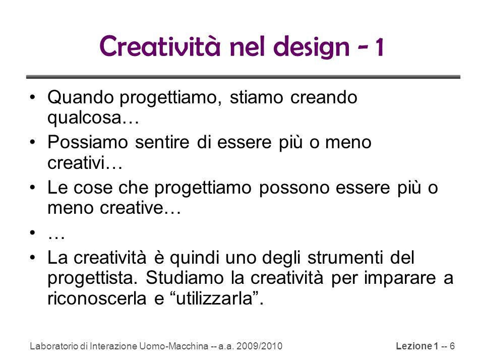 Creatività nel design - 1