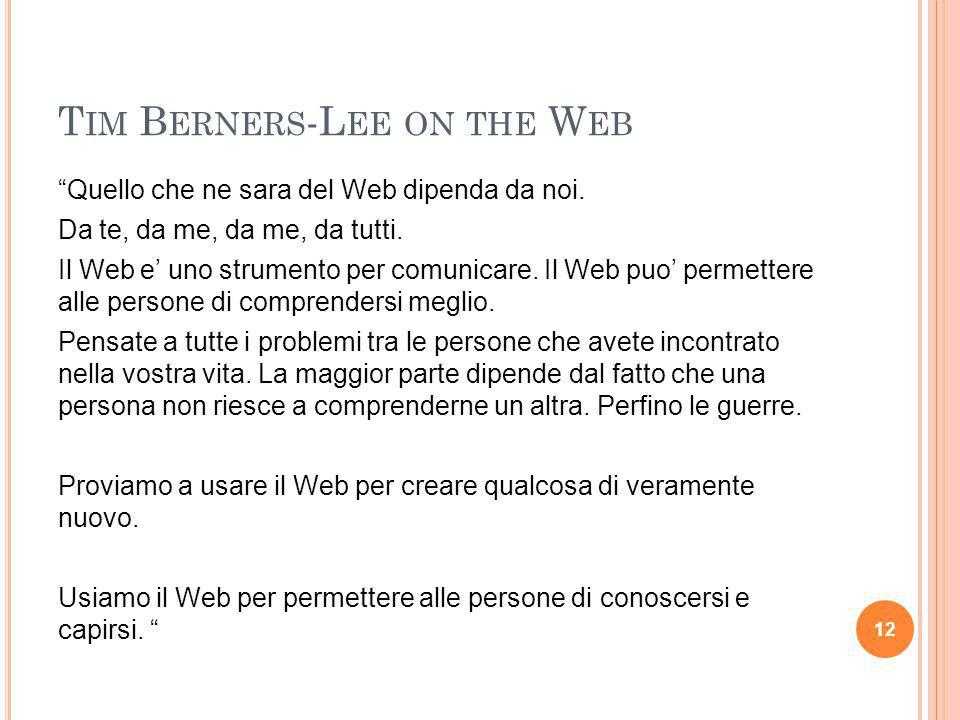 Tim Berners-Lee on the Web