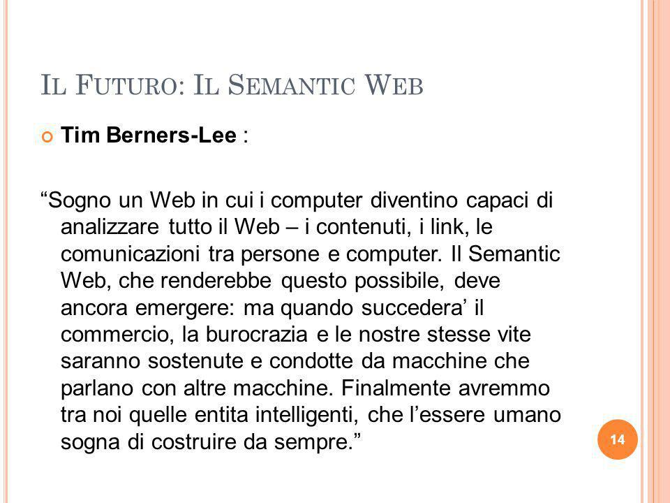 Il Futuro: Il Semantic Web