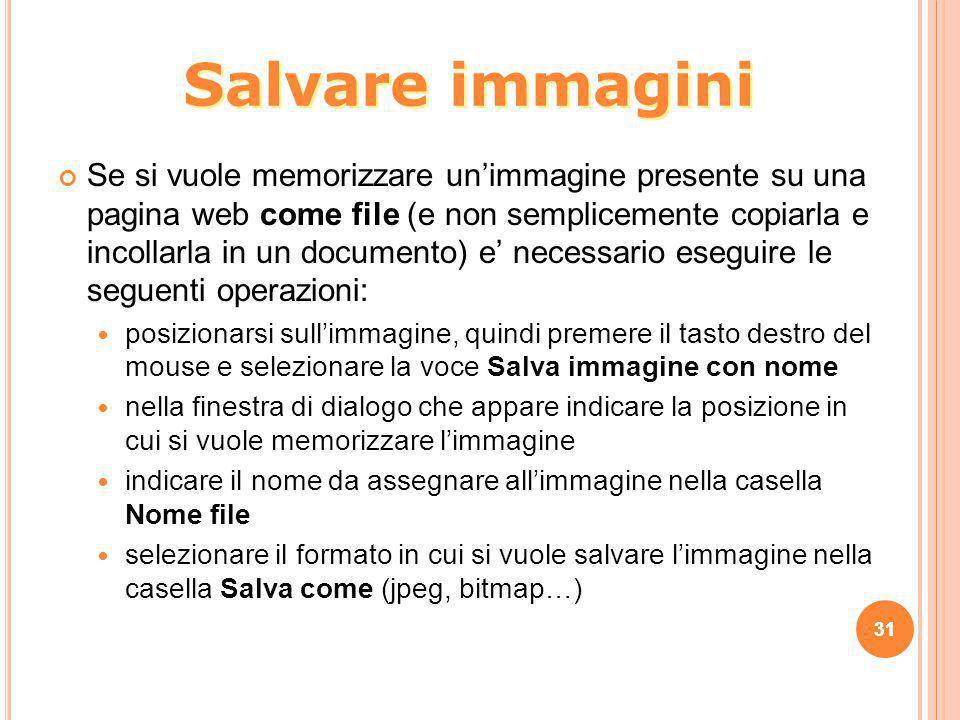 Salvare immagini