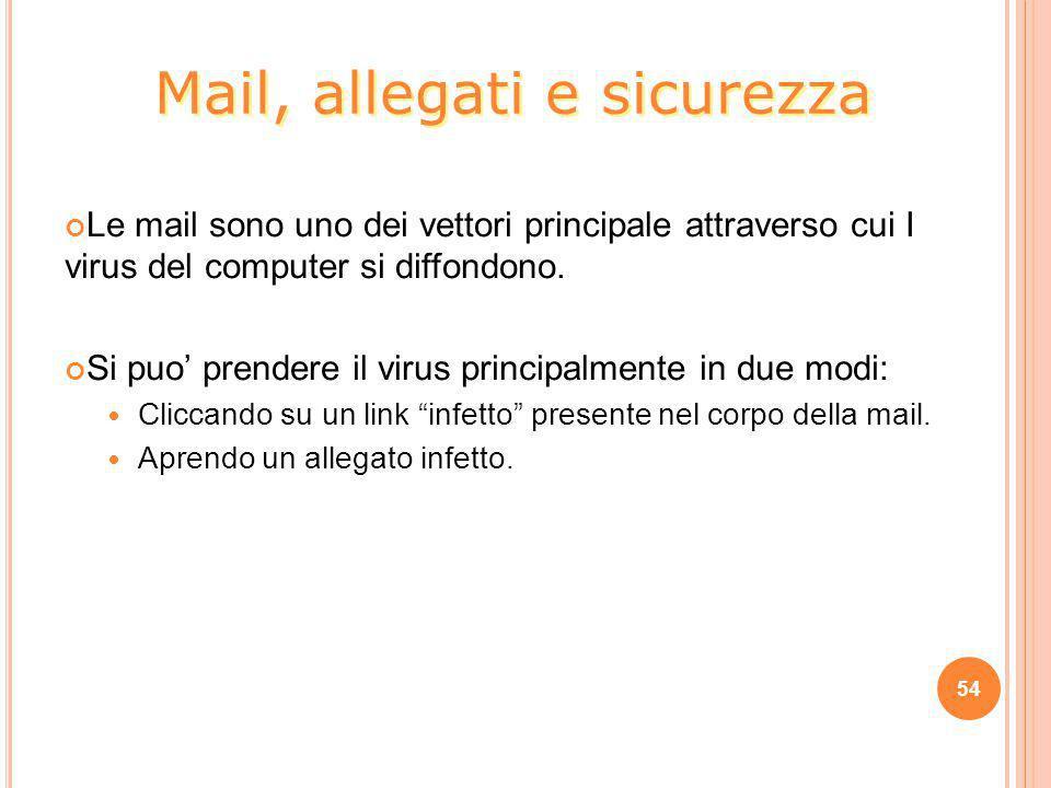 Mail, allegati e sicurezza