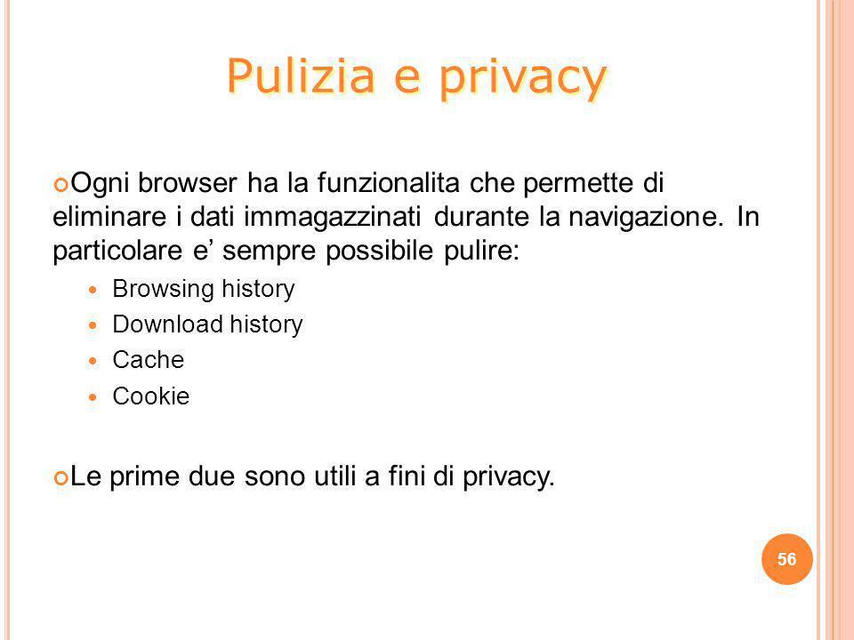 Pulizia e privacy