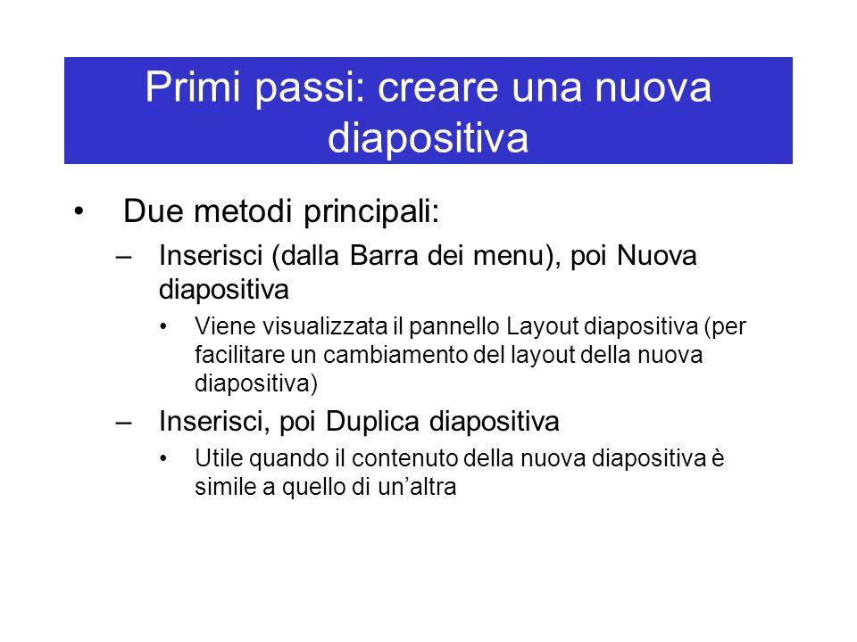 Primi passi: creare una nuova diapositiva