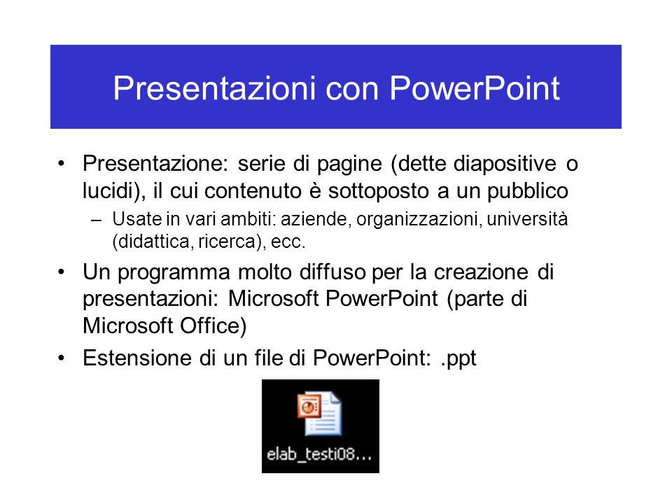 Presentazioni con PowerPoint