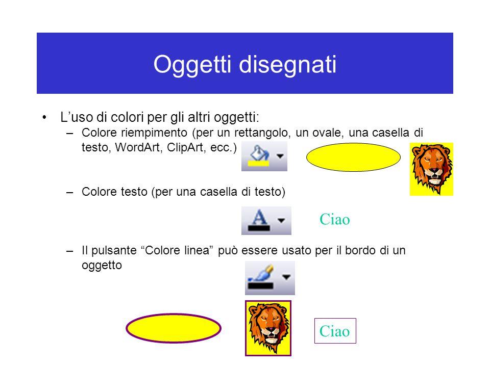 Oggetti disegnati Ciao Ciao L'uso di colori per gli altri oggetti: