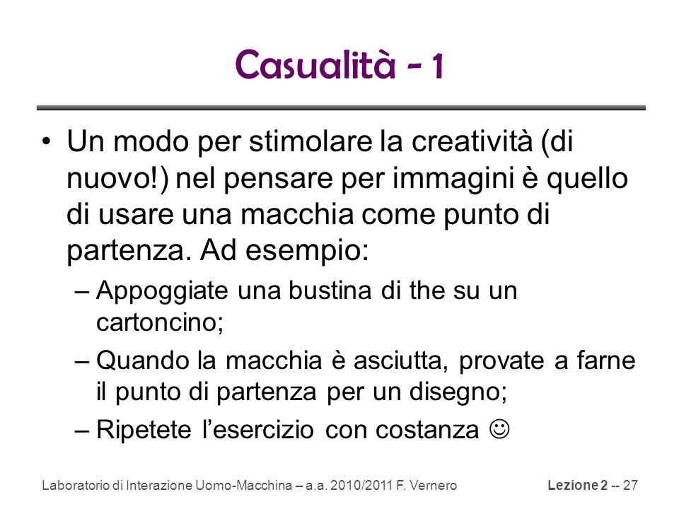 Casualità - 1