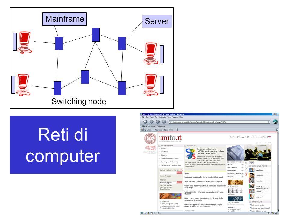 Mainframe Server Switching node Reti di computer