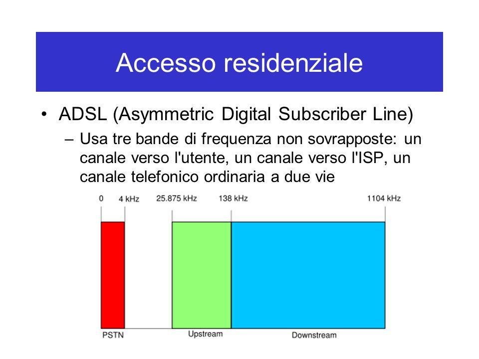 Accesso residenziale ADSL (Asymmetric Digital Subscriber Line)