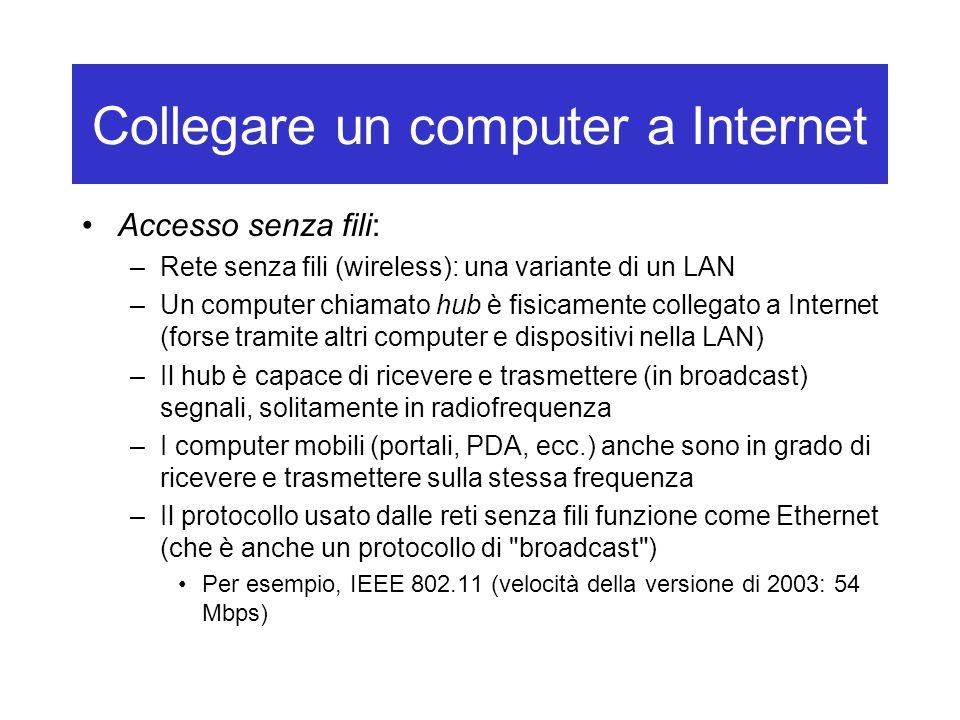 Collegare un computer a Internet