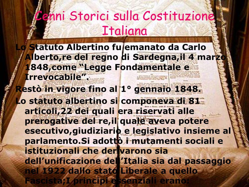Cenni Storici sulla Costituzione Italiana