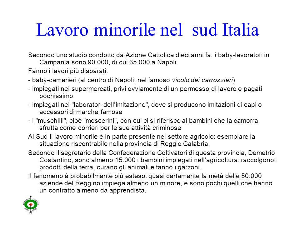 Lavoro minorile nel sud Italia