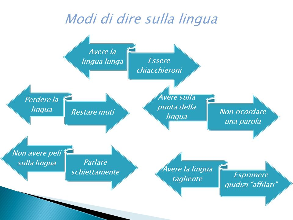 Modi di dire sulla lingua