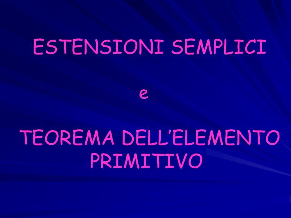 ESTENSIONI SEMPLICI e TEOREMA DELL'ELEMENTO PRIMITIVO