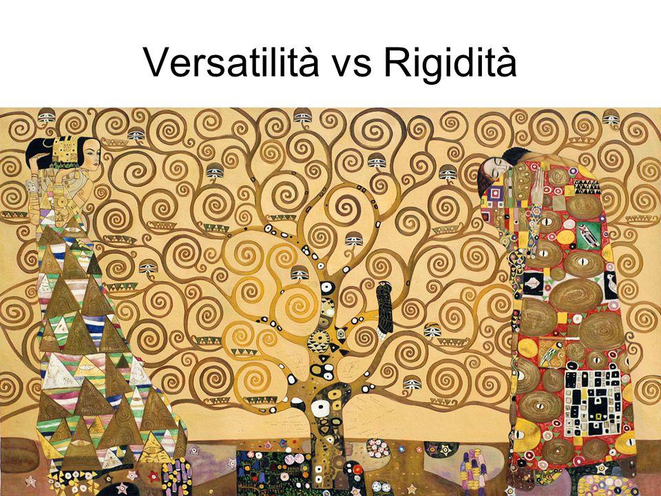Versatilità vs Rigidità