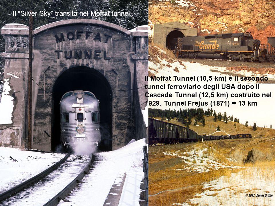 Il Silver Sky transita nel Moffat tunnel