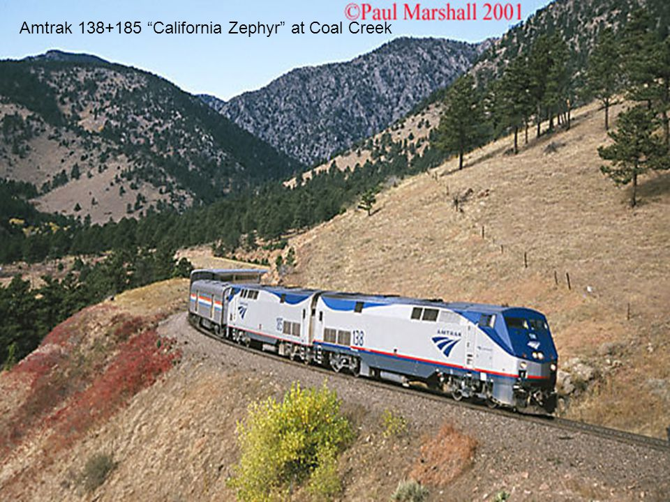 Amtrak 138+185 California Zephyr at Coal Creek