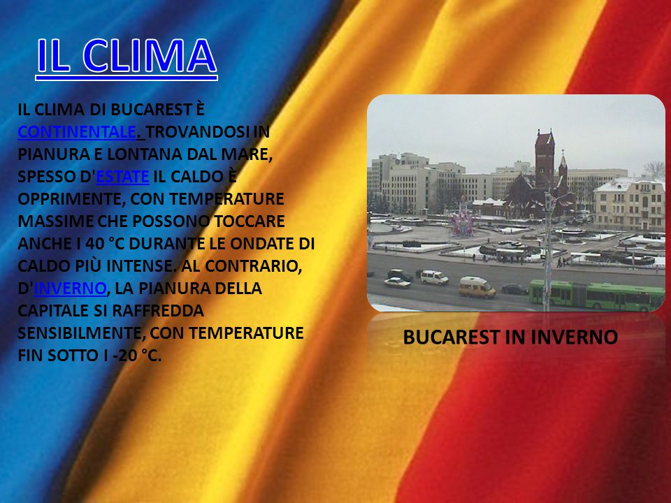 IL CLIMA BUCAREST IN INVERNO