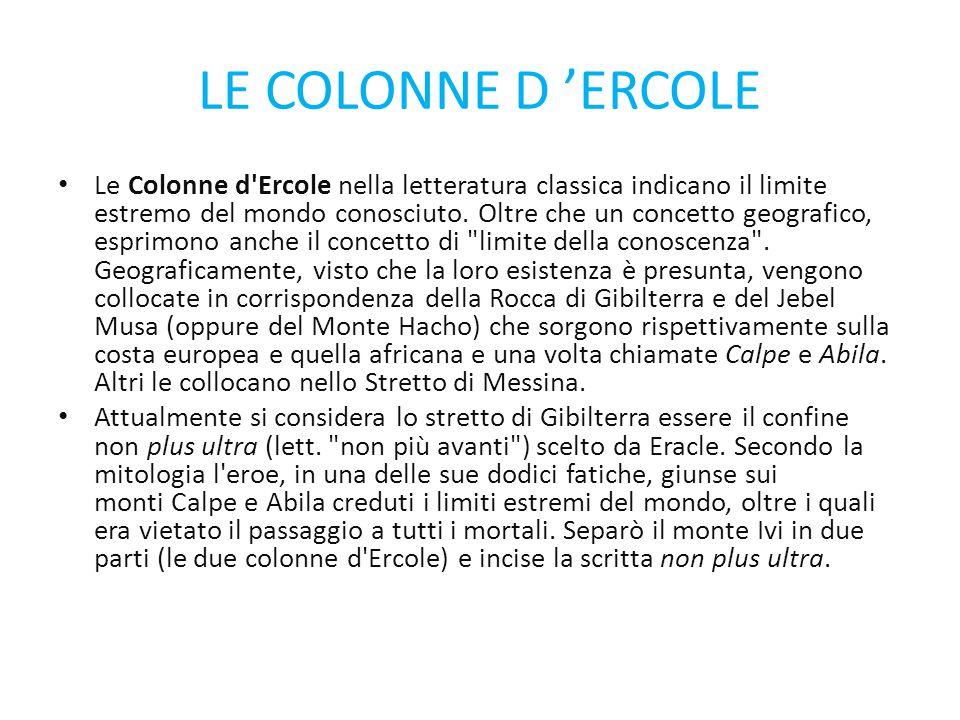 LE COLONNE D 'ERCOLE
