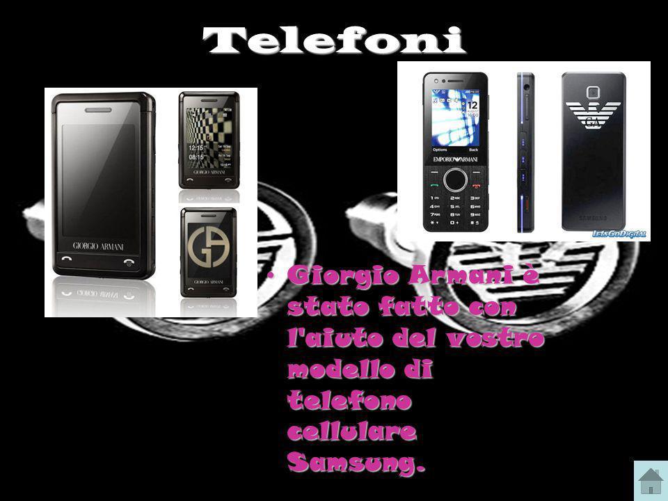 Telefoni Giorgio Armani è stato fatto con l aiuto del vostro modello di telefono cellulare Samsung.