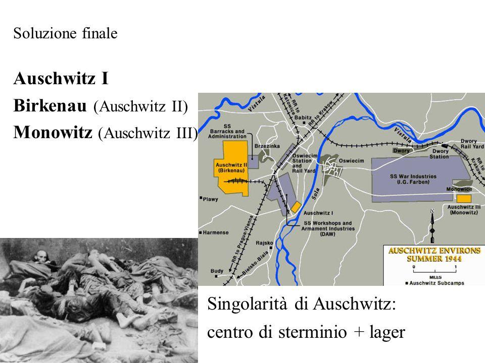 Birkenau (Auschwitz II) Monowitz (Auschwitz III)